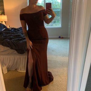 Off the Shoulder Bridesmaids Dress